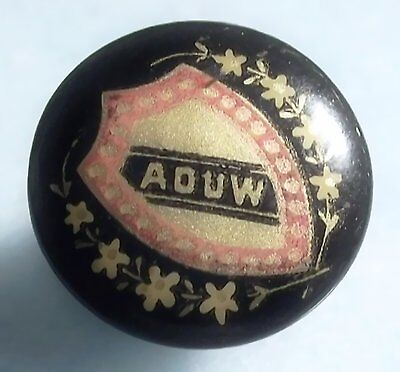 Ancient Order Of United Workmen AOUW Fraternal Society Vintage Button Stud