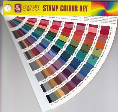 Stanley Gibbons Colour Key - Identify Stamp Color Shade Brand New