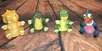 Vintage Land Before Time Burger King Hand Puppets 1988 Lot Of 4