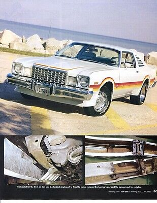 1978 PLYMOUTH VOLARE ROAD RUNNER COUPE  6 page  Color Article