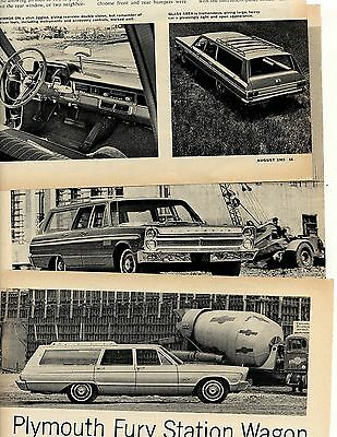 1965  Plymouth Fury Iii Wagon Road Test 5 Pg Article