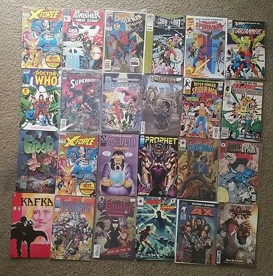 Modern Comic Lot of 24- ALL FIRST/ #1/ #0 ISSUES - Spiderman, X-force, Punisher