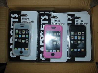 36 New Carded Silicone Rubber Skin Cover Case Accessory for Apple iPhone