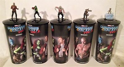 Guardians of the Galaxy Volume 2 Movie Theater Exclusive Cup Topper Set