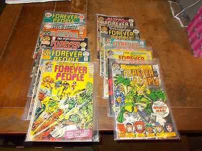 Forever People - 10 issues #2 #3 #4 #5 #6 #7 #8 #9 #10 #11 - 1971/72  DC Comics
