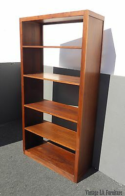 Vintage Mid-Century Danish Modern Style Five Tier Solid Walnut Bookcase