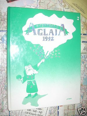 1992 Aglaia Central High School Manchester NH - Yearbook / Annual - ORIGINAL