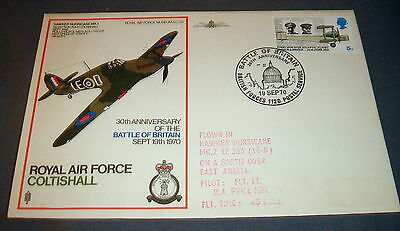 Raf Flown Cover Commemorating Battle Of Britain Anniversary &  Raf Coltishall..