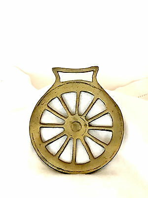 Vintage Brass Horse Harness/bridle/medallion/ornament - Wheel