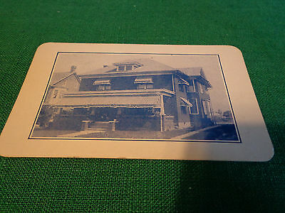 1940s PHOTOGRAPHIC BUSINESS CARD SHRIVER HOME GETTYSBURG PA