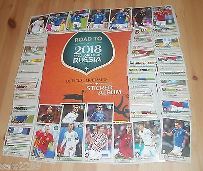 PANINI ROAD TO RUSSIA 2018 World Cup Complete set + empty album  NEW