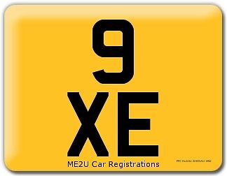 Jaguar XE. 3 Character Dateless cherished short number plate 9 XE