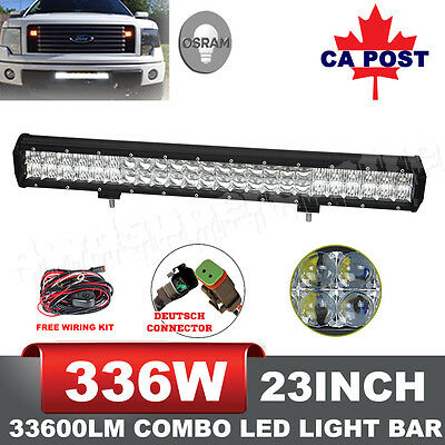 23inch Osram 33600LM 5D Led Spot Flood Work Lights Offroad 4WD Truck SUV Bars