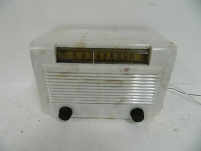 "Art Deco ""Beetle"" General Electric Model CL500 AM Radio"