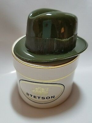 VTG MENS STETSON FEDORA MINI SALESMAN SAMPLE IN MINIATURE ADVERTISING HAT BOX a