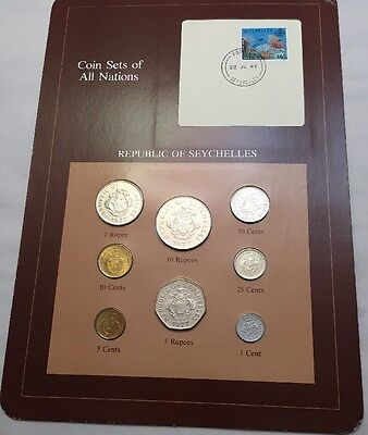 Eight Coin Set Uncirculated REPUBLIC OF SEYCHELLES Coins Of All Nations