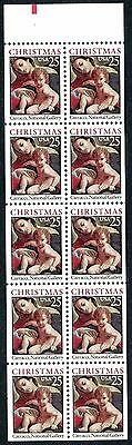 2427a 25 cent 1989 Madonna Unfolded Booklet Pane, Tab Position 15