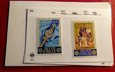Anguilla 2 Silver Jubilee Mint Stamps NH ST66