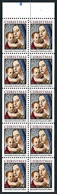 2514b 25 cent 1990 Madonna Unfolded Booklet Pane, Tab Position 19