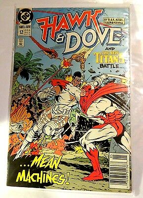 Hawk & Dove #12 DC Copper Age Comic CB1259