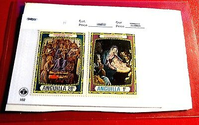 Anguilla 1970 Christmas Issue  Mint NH Stamps  ST48