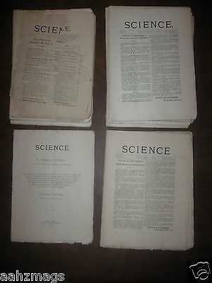 1895 - Science A Weekly Journal - Lot of 36 Issues - Original AMAZING CONDITION