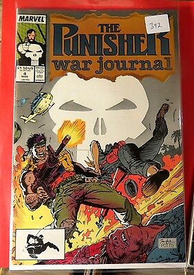 The Punisher War Journal #4 Marvel Copper Age  CB2498