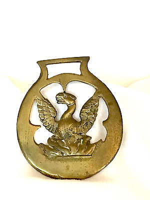 Vintage Brass Horse Harness/bridle/medallion/ornament - Phoenix Or Griffin