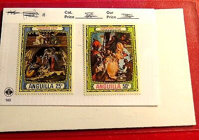 Anguilla Christmas Issue 1970 25 & 50ct Mint NH Stamps  ST58
