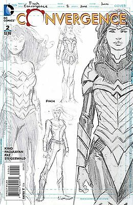 Convergence #2 1:100 Variant David Finch Wonder Woman Sketch Cover Hot