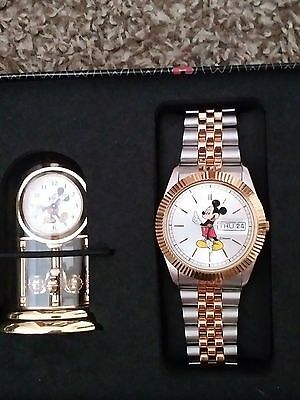 Disney Mickey Mouse collectible Watch/Clock Never used or taken out of case.