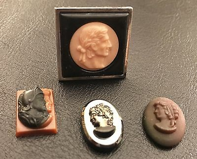 38 Cameos From An Estate Sale In Texas.  Sizes 3/8'' X 3/4'' To 1.25'' X 1.50''.