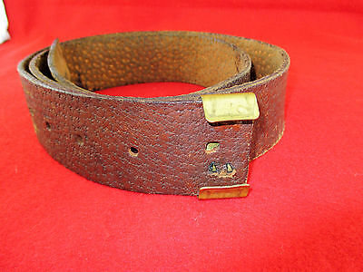 Civil War Cs Pigskin  Leather Belt - For Buckle With Keeper