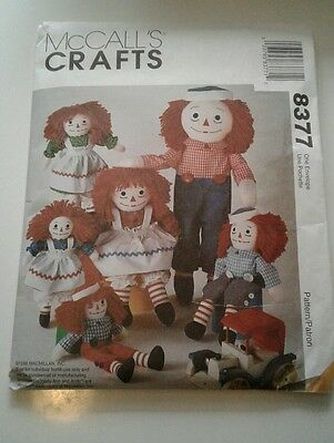 McCalls Crafts pattern 8377 Raggedy Ann Andy vintage 1988