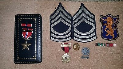 Rare Ww2 6Th Cavalry Regiment Named Group Bronze Star Good Conduct Theater Made