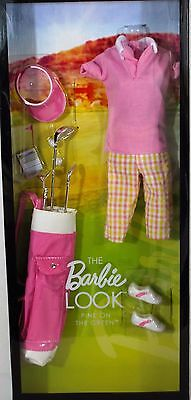 The Barbie Look Pink On The Green Barbie Doll Collector Black Label, Clothes