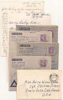 WWII Letters, 166th Newfoundland Regiment Gunner. North Africa, Italy, 1943-44.
