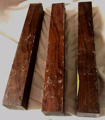 3 Arizona Desert Ironwood 1.5x1.5x12 For Knife Handles Duck Calls Pool Cues Wood