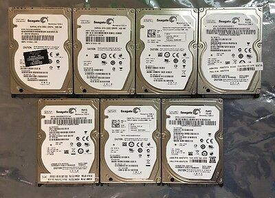 Lot of 7 Seagate HDD Laptop Hard drives ST9320423AS  320GB 7200.4 - erased