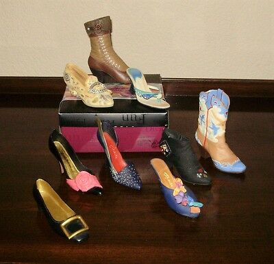LOT of  9 Just The Right Shoe Collectible Miniature  RAINE  NICE