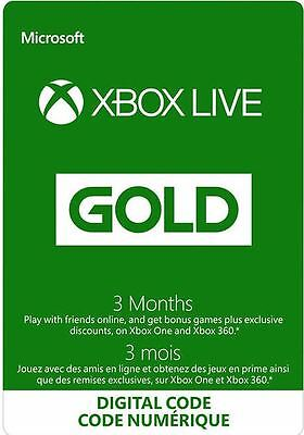 Xbox Live Gold 3 Month Membership for only $33!! Free Shipping!