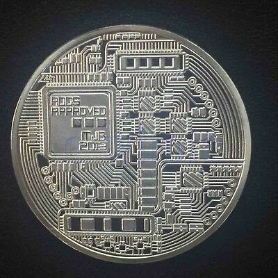 Silver Plated Bitcoin Coin Collectible Art Coin Directly to your wallet BS