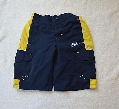 Nike Boys Size 3T Swim Trunks Blue/Yellow 100% Polyester