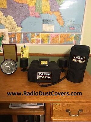Yaesu MD-200A8X or MD-100 or M-1 microphone DUST COVER the world's BEST cover