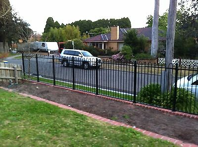 Aluminium Fencing Pool Or Garden Package Loop And Spear Black