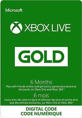Xbox Live Gold 6 Month Membership for only $47!! Free Shipping!