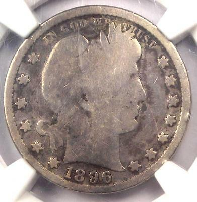 1896-S Barber Quarter 25C - NGC Good Details - Rare Key Date Certified Coin!