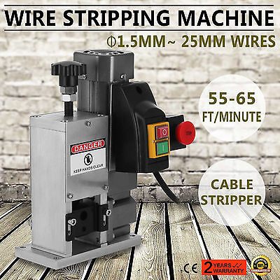 Powered Electric Cable Wire Stripping Machine 0.18kw Φ1.5~ 25mm Heavy Duty