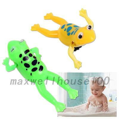Baby Kid Child Swim Pool Frog Diver Bath Wind-up Clockwork Education Toy