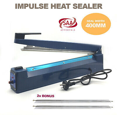 Heat Impulse Sealer 400mm Sealing Hand Machine Element Poly Plastic Bag Sealer